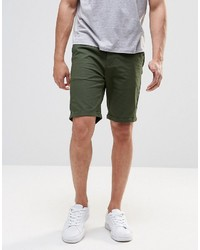 Pull&Bear Slim Fit Shorts In Green