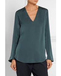 f2dbd711909625 By Malene Birger Mizar Stretch Silk Blouse Emerald, £298 | NET-A ...