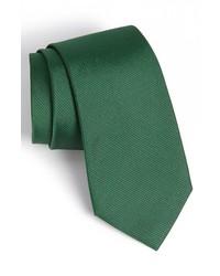 Woven silk tie green regular medium 202640