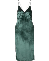 Dark Green Slit Maxi Dress