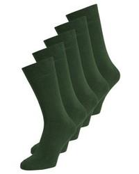 5 pack socks green medium 4159744