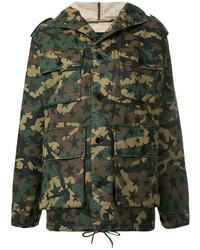 Saint Laurent Hooded Military Jacket