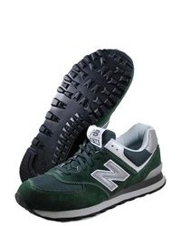 Dark Green Suede Athletic Shoes