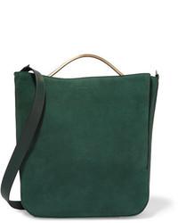 Dark Green Suede Crossbody Bag