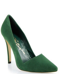 Dark Green Suede Pumps