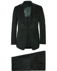 Thom Sweeney Green Slim Fit Cotton And Cashmere Blend Corduroy Three Piece Suit