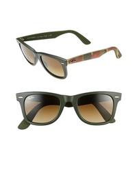 Ray-Ban Classic Wayfarer 50mm Sunglasses Matte Military Green None