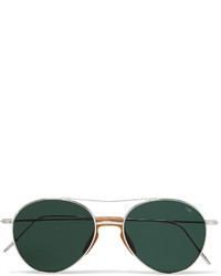 Eyevan 7285 Aviator Style Metal Sunglasses