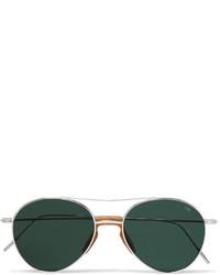 Eyevan 7285 Aviator Style Metal Sunglasses