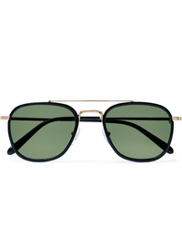 Moscot Macher Round Frame Acetate And Gold Tone Sunglasses