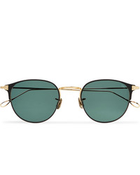 Eyevan 7285 Round Frame Acetate And Gold Tone Titanium Sunglasses