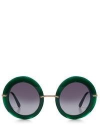 Dolce & Gabbana Round Frame Acetate Sunglasses