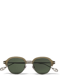 Gucci Round Frame Metal And Acetate Sunglasses