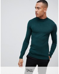 Gianni Feraud Tall Premium Muscle Fit Stretch Turtle Neck Fine Gauge Jumper