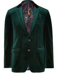 Dark Green Velvet Blazer