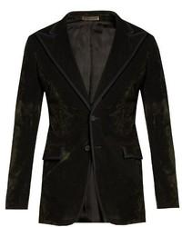 Single breasted bushed velvet blazer medium 799258