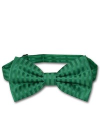 Dark Green Vertical Striped Bow-tie