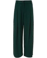 Dark Green Wide Leg Pants