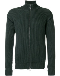 Dark Green Zip Sweater