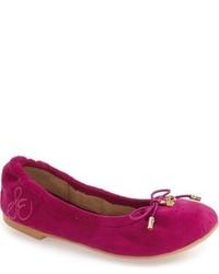 Dark Purple Ballet Flats