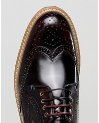 discount sale big sale pick up Ted Baker Prycce Hi Shine Brogues Shoes In Red, £204 | Asos ...