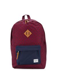 Dark Purple Canvas Backpack