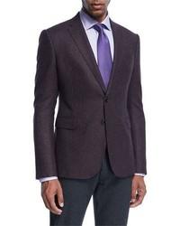 Dark Purple Check Blazer