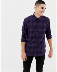Jefferson Peached Purple Check Shirt
