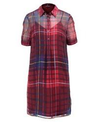 Tommy Hilfiger Janet Tartan Dress Red