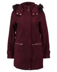 New Look Duffle Short Coat Burgundy
