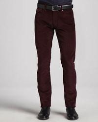 Dark Purple Corduroy Dress Pants