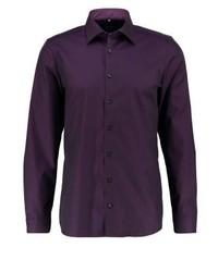 Olymp Body Fit Formal Shirt Aubergine