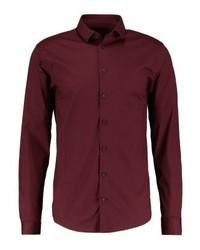 CASUAL FRIDAY Slim Fit Formal Shirt Merlot Red