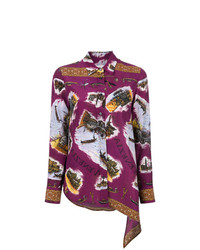 Golden Goose Deluxe Brand Embroidered Asymmetric Shirt