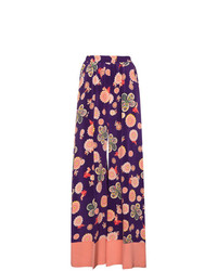 Racil Silk Floral Printed Trousers