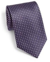 Dark Purple Geometric Tie