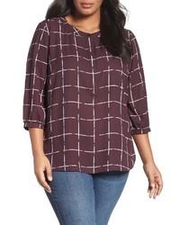 Dark Purple Henley Shirt
