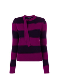 Marc Jacobs Striped Tie Neck Sweater
