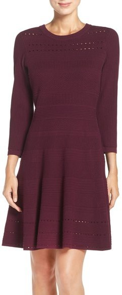 Eliza J Sweater Knit Fit Flare Dress Where To Buy How To Wear