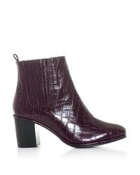 Opening Ceremony Brenda Embossed Leather Ankle Boots