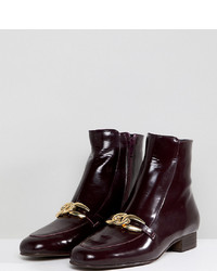 Free People Emerald City Leather Front Ankle Boots