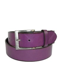 CTM Wrinkled Leather Belt For By Purple 36
