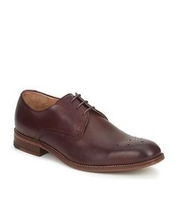 Ben Sherman Plyn Derby Burgandy Leather Smart Formal Shoes