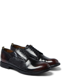 Officine Creative Anatomia Glossed Leather Derby Shoes
