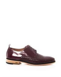 Ami Woven Front Derby Shoes