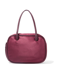 Dark Purple Leather Handbag