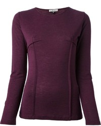 Dark Purple Long Sleeve T-shirt