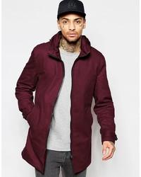 Brand festival lightweight parka jacket in burgundy medium 603020