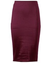 Dark Purple Pencil Skirt