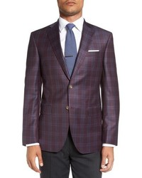Dark Purple Plaid Blazer